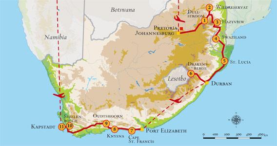 Gondwana Comfort Panoramaroute Safari In Privatem Wildreservat
